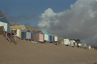 Bathing huts on Abersoch beach
